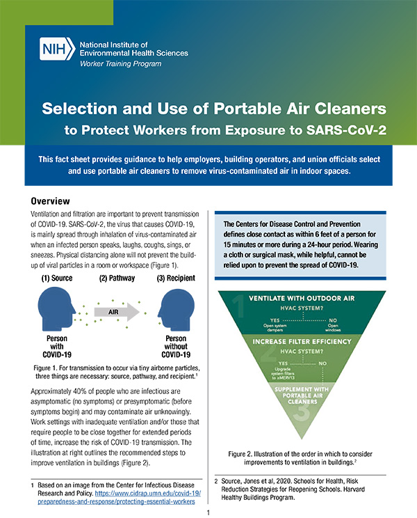 Selection and Use of Portable Air Cleaners to Protect Workers fr